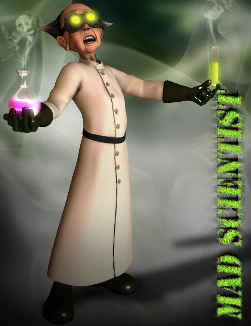 Gramps Mad Scientist by: 3D Universe, 3D Models by Daz 3D