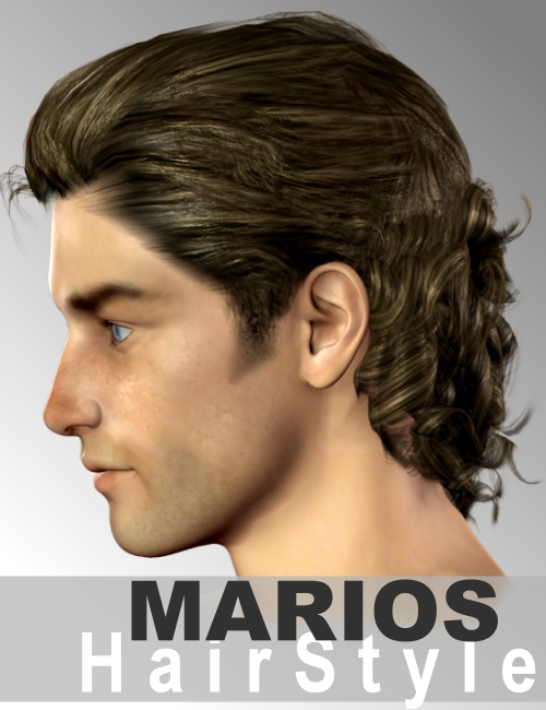 Marios Hair by: Neftis3D, 3D Models by Daz 3D