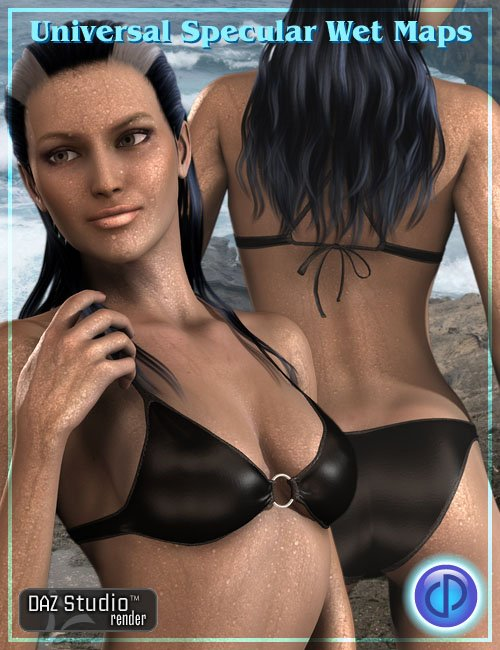 Universal Wet Maps and Orcamaid by: Parris, 3D Models by Daz 3D