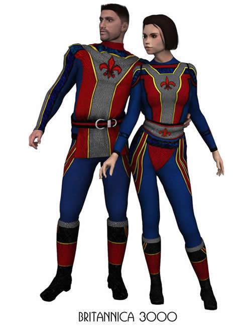 MM Sci-Fi Suit 2 & MW Sci-Fi Suit-Britannica 3000 by: Lisa's Botanicals, 3D Models by Daz 3D