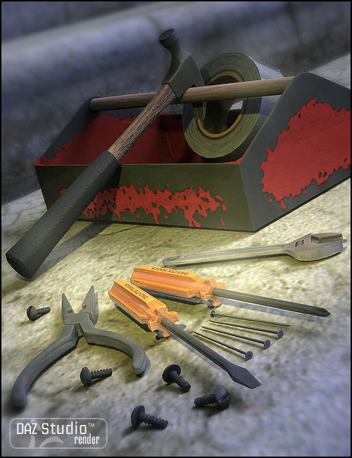 Tools and Toolbox by: Valandar, 3D Models by Daz 3D