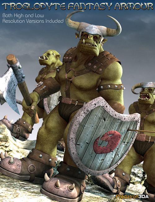 Troglodyte Fantasy Armour by: Predatron, 3D Models by Daz 3D