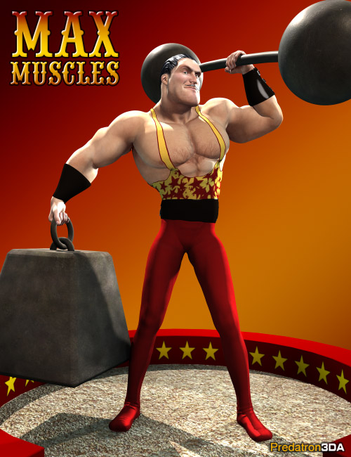 Max Muscles by: Predatron, 3D Models by Daz 3D