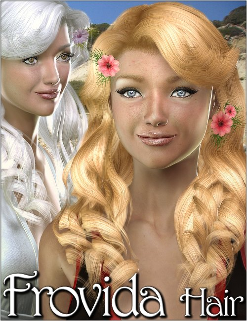 Frovida Hair by: 3DreamMairy, 3D Models by Daz 3D