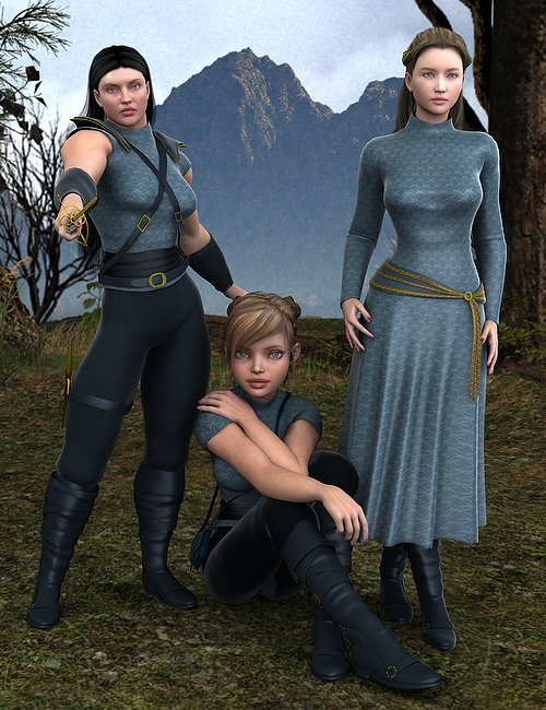 Courageous Unimesh Fits by: Ravenhair, 3D Models by Daz 3D