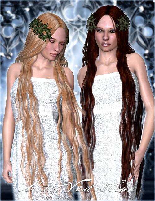 Misty Veil Hair by: Valea, 3D Models by Daz 3D