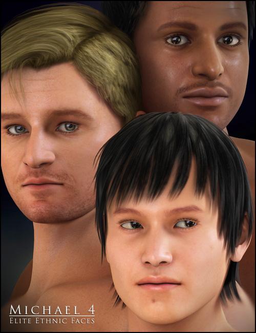M4 Elite Ethnic Faces by: , 3D Models by Daz 3D