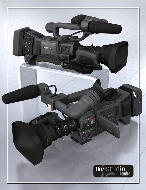 Professional Video Camera by: Age of Armour, 3D Models by Daz 3D