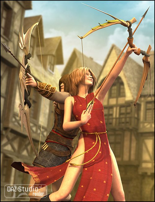 Arcane Archery by: Valandar, 3D Models by Daz 3D