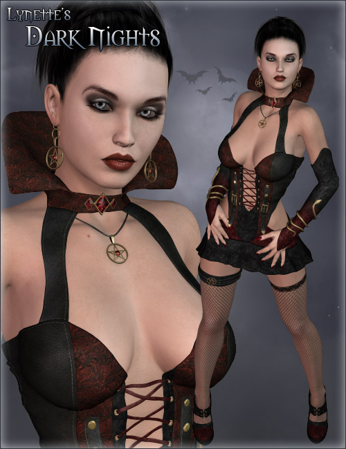DMR Lynettes Dark Nights by: Daniemarforno, 3D Models by Daz 3D
