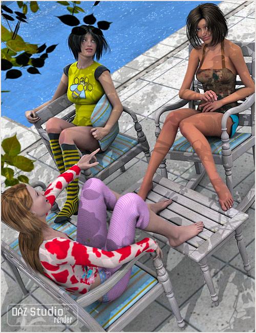 Garden Furniture by: , 3D Models by Daz 3D